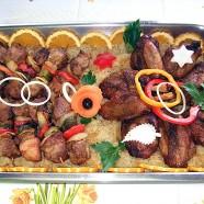 Kleine Schaschlik Spieße & kleine Grillhaxen vom Schwein